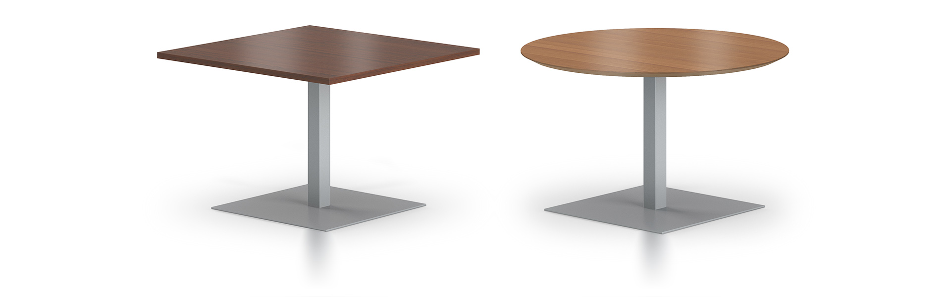 Disc And Square Bases Pair With Square Or Round Café Tops To Stand Out Or  Blend In With Your Environment. Available In Desk/dining Height Or Bar  Height.
